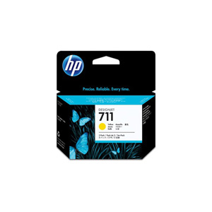 HP 711 Tri-pack Ink Cartridge - Yellow - Inkjet - 3 / Pack