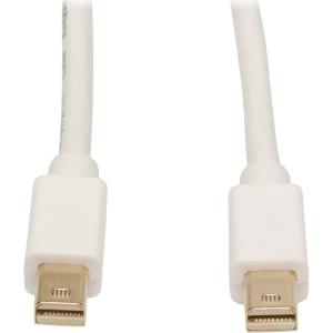 Tripp Lite 6ft Mini Displayport to Mini Displayport Cable - DisplayPort for Audio/Video Device, Monitor, Notebook - 6 ft - 1 x Mini DisplayPort Male Digital Audio/Video - 1 x Mini DisplayPort Male Digital Audio/Video - White