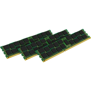Kingston 48GB 1333MHz Quad Rank Reg ECC x8 Low Voltage Kit - 48 GB (3 x 16 GB) - DDR3 SDRAM - 1333 MHz DDR3-1333/PC3-10600 - ECC - Registered - 240-pin - DIMM