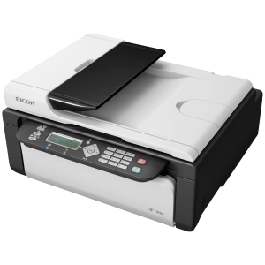 Ricoh Aficio SP 100SF e Laser Multifunction Printer - Monochrome - Plain Paper Print - Desktop - Printer, Copier, Scanner, Fax - 13 ppm Mono Print - 1200 x 600 dpi Print - 13 cpm Mono Copy - 600 dpi Optical Scan - 50 sheets Input - USB
