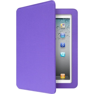 Aluratek Keyboard/Cover Case (Folio) for iPad - Grape Jelly - Textured
