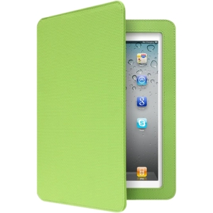 Aluratek Slim Color Keyboard/Cover Case (Folio) for iPad - Green Apple - Skid Resistant