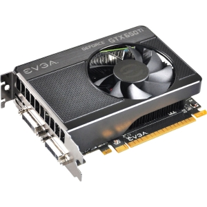 EVGA GeForce GTX 650 Ti Graphic Card - 1071 MHz Core - 1 GB GDDR5 SDRAM - PCI Express 3.0 x16 - 5400 MHz Memory Clock - 2560 x 1600 - Fan Cooler - DirectX 11.0, DirectCompute 5.0, OpenGL 4.3, OpenCL - HDMI - DVI