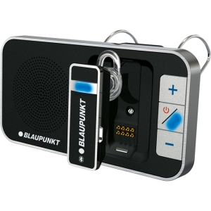 Blaupunkt BPPBTDF211 Wireless Bluetooth Car Hands-free Kit - 32.8 ft Range - Echo Cancellation, Noise Suppression, Call Reject, Redial, Speakerphone