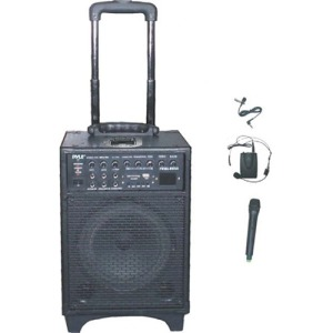 500 WATT DUAL CHANNEL WIRELESS RECHAGEABLE PORTABLE PA SYSTEM