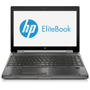 "HP EliteBook 8570w C6Z69UT 15.6"" LED Notebook - Intel - Core i7 i7-3740QM 2.7GHz - Gunmetal - 8 GB RAM - 750 GB HDD - DVD-Writer - NVIDIA Quadro K1000M Graphics - Genuine Windows 7 Professional (English) - 6.50 Hour Battery - DisplayPort"