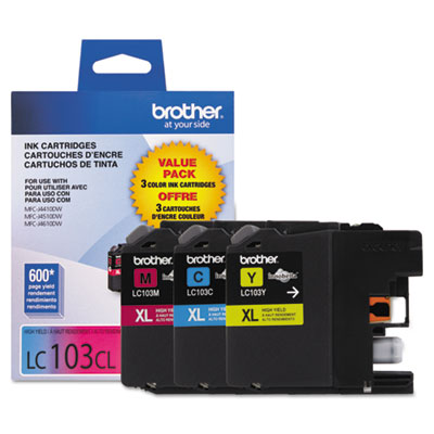 Brother Innobella LC1033PKS Ink Cartridge - Cyan, Magenta, Yellow - Inkjet - 600 Page Cyan, 600 Page Magenta, 600 Page Yellow - 3 / Pack