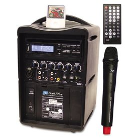 Image of AMPLIVOX IPOD WIRELESS PA WITH DVD/CD/MP3 PLAYER 30 WATTS