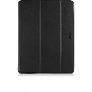 Macally iPad Case - iPad - Black, Gray - Faux Leather