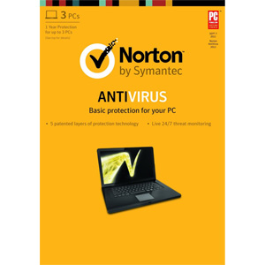 Norton Antivirus 2013 - 3 User Family Pack