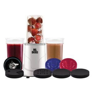 Big Boss Multi Blender -15-Piece Hi Speed 300-Watt Personal Countertop Blender Mixing System