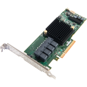 Adaptec 71605 16-Ports SAS/SATA RAID Controller - Serial Attached SCSI (SAS) - PCI Express 3.0 x8 - Plug-in Card - RAID Supported - 0, 1, 1E, 5, 6, 10, 50, 60 RAID Level - 1 GB