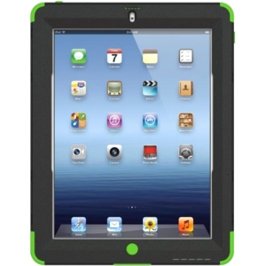 Trident Kraken AMS Carrying Case (Holster) for iPad - Green - Polycarbonate, Silicone