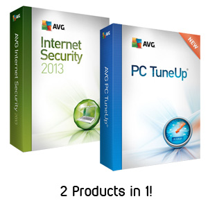 AVG Internet Security + PC Tune Up 2013 Bundle - 3 User Family Pack