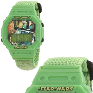 Star Wars Kids' Boba Fett Digital Wrap Strap Watch