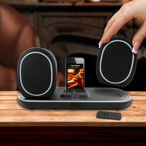 I-tec iStereo T2406 2.0 Wireless Speaker System - 130 ft -  iPod/iPhone Support