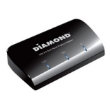 DIAMOND Graphic Adapter - 1 GB DDR2 SDRAM - USB 3.0 - 2560 x 1600 - HDMI - DVI