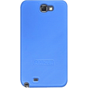 Amzer Snap On Case - Blue for Samsung Galaxy Note II GT-N7100 - Smartphone - Blue - Rubberized - Polycarbonate