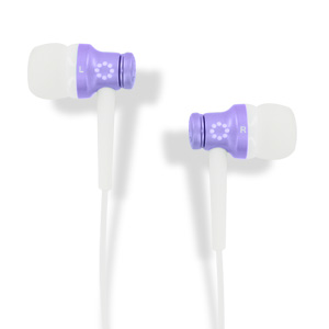 Memorex EB50 Stereo Earbuds - Purple