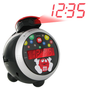 Spectra M&M's Character Have a Sweet Day LED Projection AM/FM Alarm Clock Radio