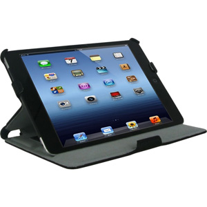 rOOCASE Slim-Fit Carrying Case for iPad mini - Black - Synthetic Leather
