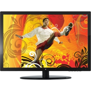 "22in Widescreen Full HD LED with Speakers 1920x1080 Resolution 16:9 DVI-D and VGA Signal Inputs 5ms Vesa (21.5"" Vis) - 1920 x 1080 - 250 Nit - 1,000:1 - Speakers - DVI - VGA - Black"