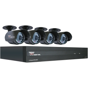 Night Owl 4 Channel H.264 DVR with 500GB Pre-Installed Hard Drive - 4 x Digital Video Recorder, Camera - H.264 Formats - 500 GB Hard Drive