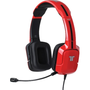 Tritton Kunai Stereo Headset For Wii U - Stereo - Red - RCA, Mini-phone - Wired - 16 Ohm - 25 Hz - 20 kHz - Over-the-head - Binaural - Ear-cup