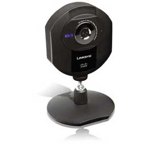 Linksys WVC80N Internet Home Monitoring Camera - Color - Wireless Wi-Fi, Cable