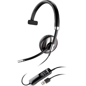 Plantronics Blackwire C710 Headset - Mono - USB - Wired/Wireless - Bluetooth - 20 Hz - 20 kHz - Over-the-head - Monaural - Semi-open - Noise Cancelling Microphone
