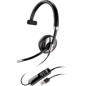Plantronics Blackwire C710-M Headset - Mono - USB - Wired/Wireless - Bluetooth - 20 Hz - 20 kHz - Over-the-head - Monaural - Semi-open - Noise Cancelling Microphone