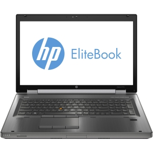 "HP EliteBook 8770w C6Y85UT 17.3"" LED Notebook - Intel - Core i7 i7-3740QM 2.7GHz - Gunmetal - 8 GB RAM - 500 GB HDD - 180 GB SSD - DVD-Writer - NVIDIA Quadro K3000M Graphics - Genuine Windows 7 Professional (English) - DisplayPort"