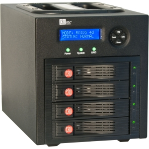 CRU RTX RTX430-3QR DAS Array - RAID Supported - 4 x Total Bays - USB 3.0, eSATA, FireWire/i.LINK 800