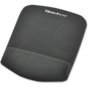 "Fellowes PlushTouch Mouse Pad/Wrist Rest with FoamFusion Technology - Graphite - 1.0"" x 7.3"" x 9.4"" - Graphite"