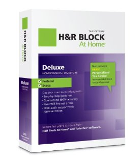 H&amp;R BLOCK AT HOME DELUXE PLUS STATE 2012 TAX SW WIN/MAC