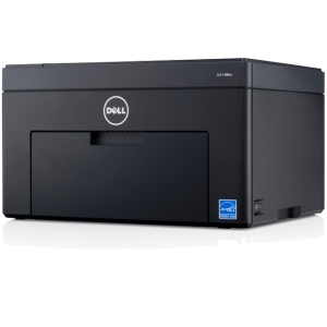 Dell C1660W LED Printer - Color - 600 x 600 dpi Print - Plain Paper Print - Desktop - 12 ppm Mono / 10 ppm Color Print - 150 sheets Input - Manual Duplex Print - LCD - Wi-Fi - USB