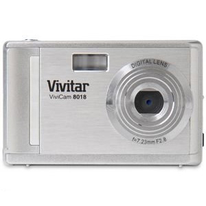 Vivitar V8018 8.1MP Digital Camera 8x Zoom Silver