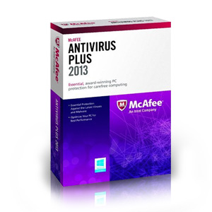 McAfee Antivirus Plus 2013 for up to 3 PCs