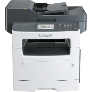 Lexmark MX511DE Laser Multifunction Printer - Monochrome - Plain Paper Print - Desktop - Printer, Scanner, Copier, Fax - 45 ppm Mono Print - 1200 x 1200 dpi Print - 45 cpm Mono Copy - Touchscreen - 1200 dpi Optical Scan - Automatic Duplex Print - 350 shee