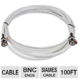 Revo RBNCR59-100 Coaxial Video Cable - Coaxial for Video Device, Surveillance Camera - 100 ft - BNC Video - BNC Video