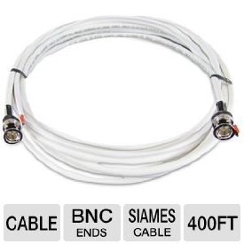 Revo RBNCR59-400 Coaxial Video Cable - Coaxial for Video Device, Surveillance Camera - 400 ft - BNC Video - BNC Video
