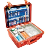 "Pelican 1500 EMS Case with Organizer/Dividers - 0.66 ft³ - Internal Dimensions: 11.18"" Width x 6.12"" Depth x 16.75"" Length - External Dimensions: 14.1"" Width x 6.9"" Depth x 18.5"" Length - Stainless Steel"