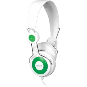 i.Sound HM-150 Headphones with Microphone - Stereo - White - Wired - 32 Ohm - 20 Hz - 20 kHz - Over-the-head - Binaural - Semi-open - 7.22 ft Cable