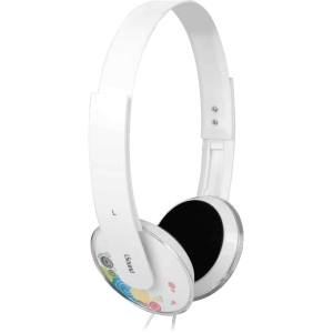 i.Sound HM-160 Headphones with Microphone - Stereo - White - Wired - 32 Ohm - 20 Hz - 20 kHz - Over-the-head - Binaural - Semi-open - 7.22 ft Cable