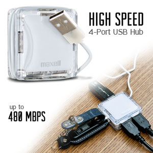 Maxell High Speed 4-Port USB 2.0 Hub (191127)