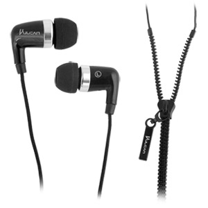 Vulcan Crossover Earbuds with Zipper Cord Design