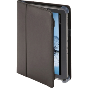 "Cyber Acoustics Carrying Case for 10.1"" Tablet PC - Black - Synthetic Leather"