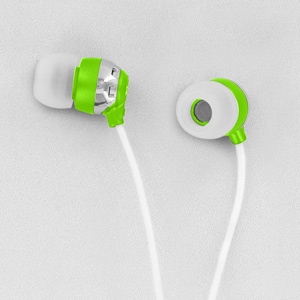 Scosche HP6G thudBuds Noise Isolation Earbuds (Green)