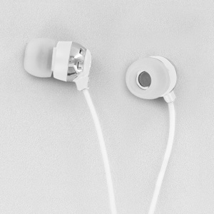 Scosche HP6W thudBuds Noise Isolation Earbuds (White)