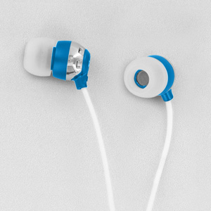 Scosche HP6BL thudBuds Noise Isolation Earbuds (Blue)
